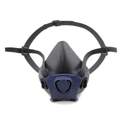 Um respirador meia peça facial sem filtro da marca Moldex