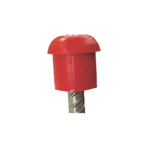 Um protetor para vergalhão vermelho da marca EPLAS