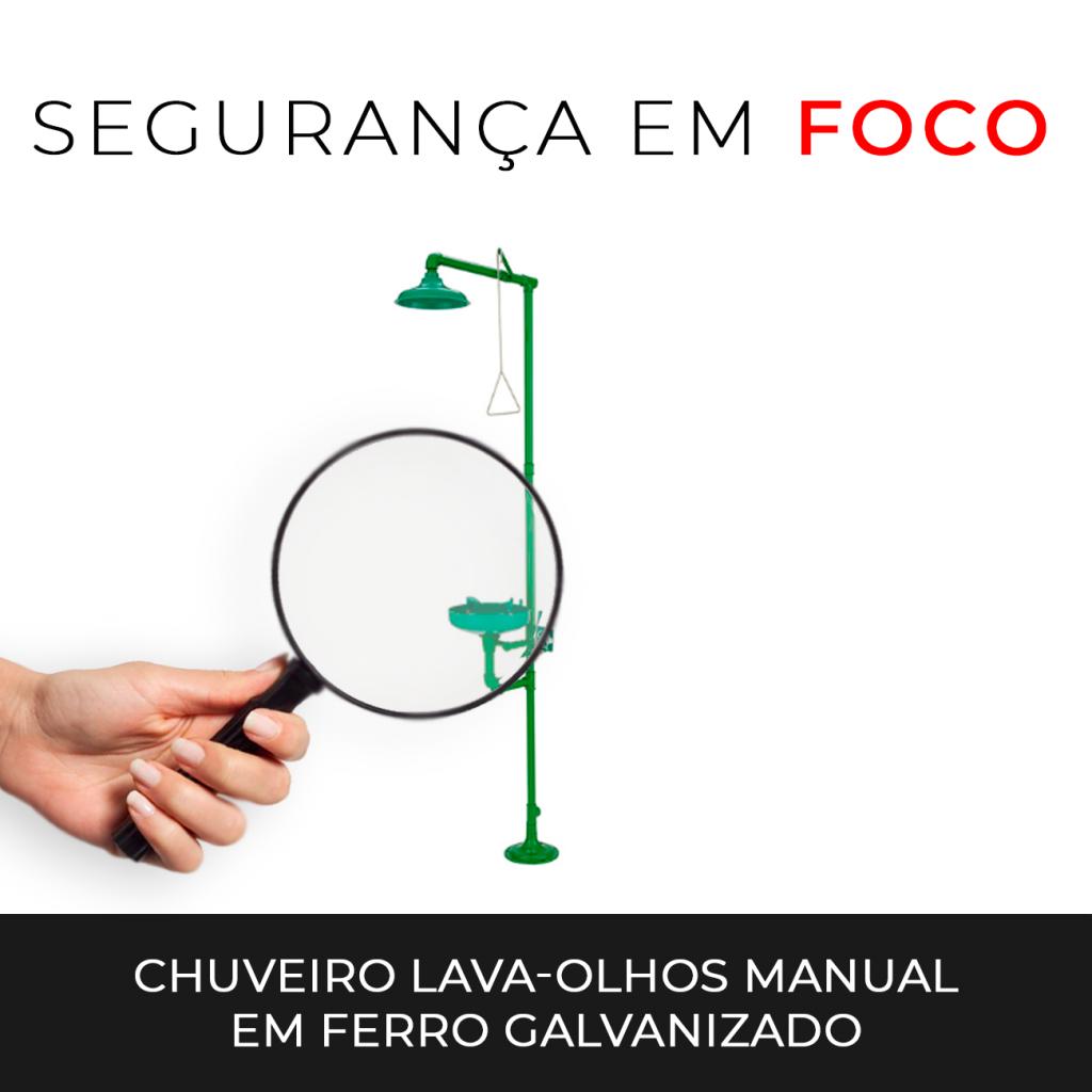 40580373bd29b9 Segurança em Foco: Chuveiro lava-olhos manual em ferro galvanizado ...